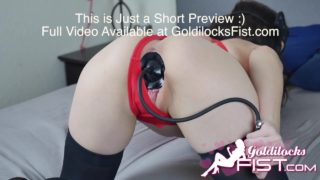 GoldilocksFist Giant Inflatable Plug Insertion Loose Pussy