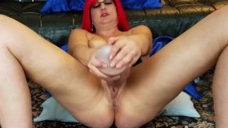 Vanessa Cox is on her back fucking a big sized Hankeys Boss Hogg Dildo