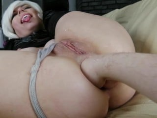 Dismoralica testing her Anal Interface with a Human Fist pushing her Prolapse and Fluids